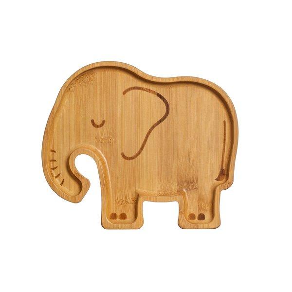 Sass & Belle Sass & Belle kinderbord bamboe olifant