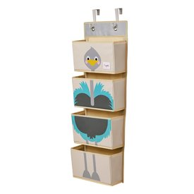 3 Sprouts 3 sprouts wand organizer struisvogel