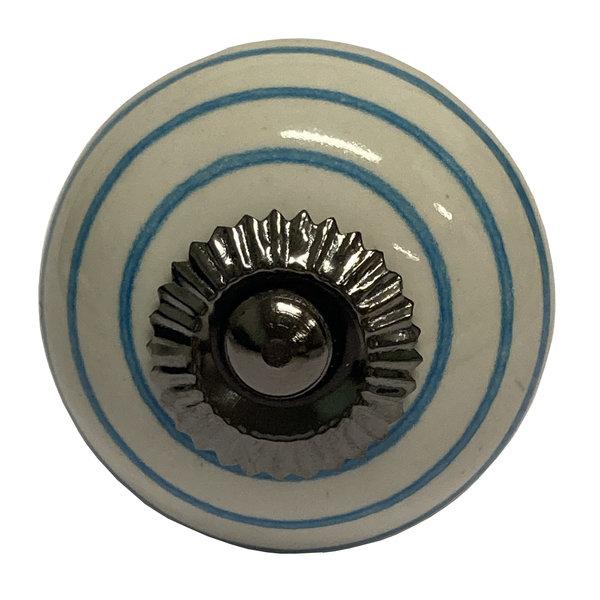 La Finesse La Finesse kastknopje wit met blauwe strepen