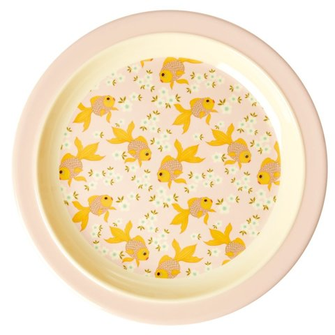 Rice melamine kinderbord goudvis
