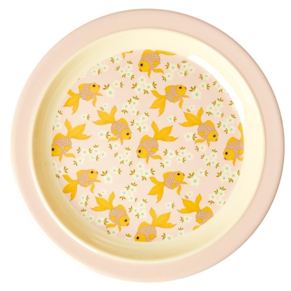 rice Denmark Rice melamine kinderbord goudvis print