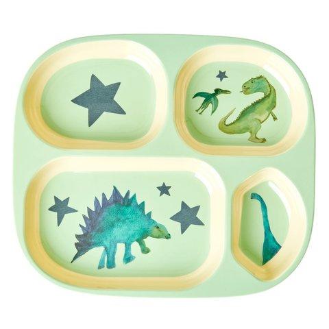 Rice kinderbord met vakjes dinosaurus