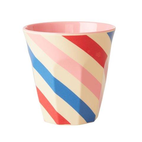 Rice melamine beker strepen Candy Stripes