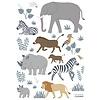 Lilipinso muursticker kinderkamer dieren safari The  Big Five