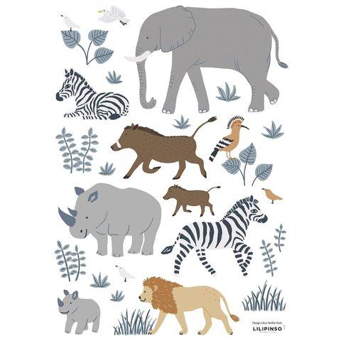 Lilipinso muursticker dieren safari Tanzania