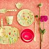 Rice melamine beker Summer Flowers print