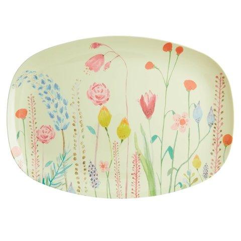 Rice melamine bord ovaal bloemen Summer Flowers