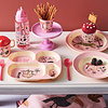 Rice melamine tuitbeker met twee handvaten jungle dieren roze