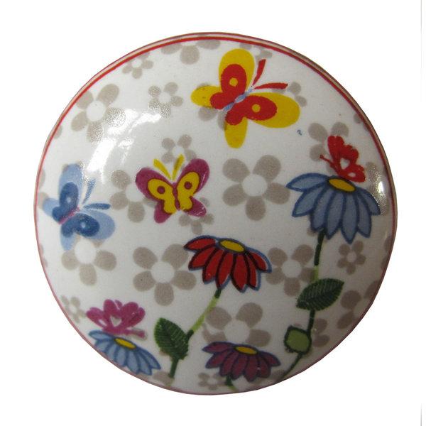 La Finesse La Finesse kastknopje bloemen en vlinders