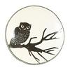 La Finesse deurknop tak met uil zwart wit