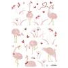 Lilipinso muursticker kinderkamer struisvogels roze