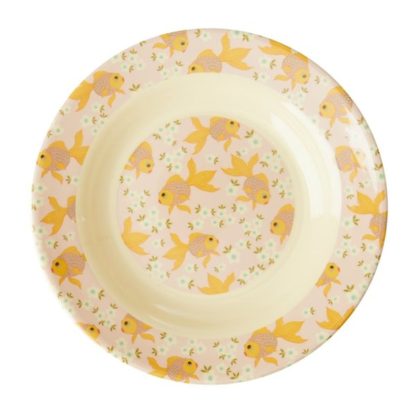 rice Denmark Rice melamine diep kinderbord Goldfish print