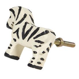 Clayre & Eef Clayre & Eef deurknop zebra