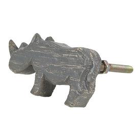 Clayre & Eef Clayre & Eef deurknop neushoorn