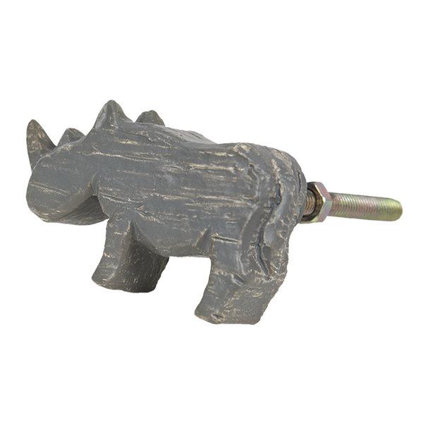 Clayre & Eef Clayre & Eef deurknopje neushoorn