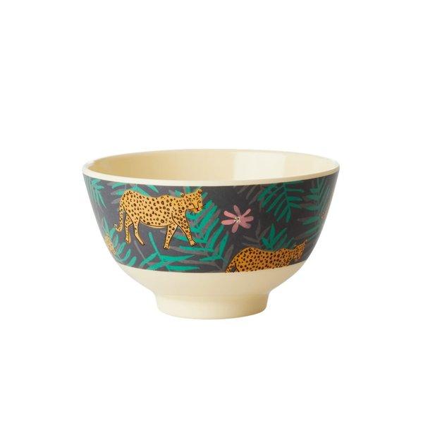 rice Denmark Rice melamine schaaltje leopard and leaves print klein