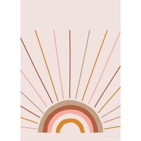 Designed4Kids Poster regenboog boho