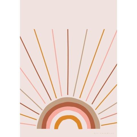 Poster regenboog boho