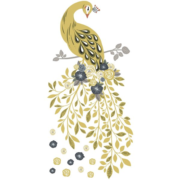 Lilipinso Lilipinso muursticker kinderkamer pauw Floral Peacock