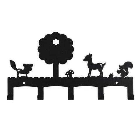 Kinderkapstok woodland antraciet zwart