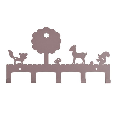 Kinderkapstok woodland oudroze