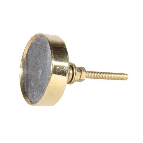 La Finesse kastknopje grijs met gouden rand