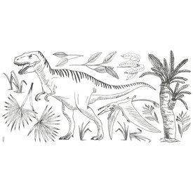 Lilipinso Lilipinso muursticker dinosaurus  XL  T-Rex