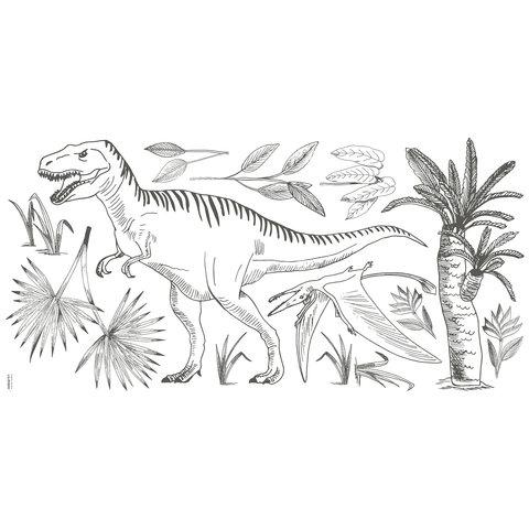 Lilipinso muursticker dinosaurus  XL  T-Rex