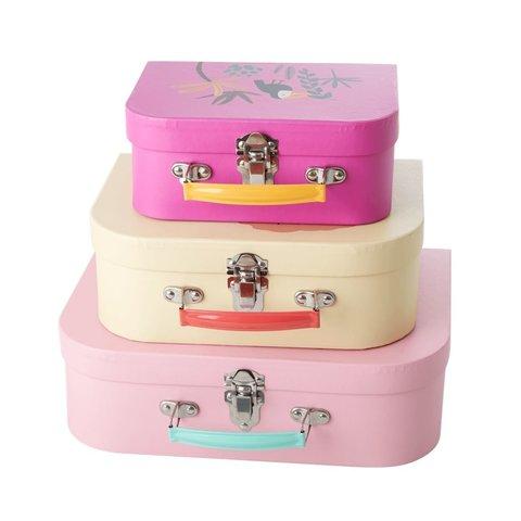 Rice speelgoedkoffer set jungle roze en creme