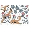 Lilipinso muursticker kinderkamer gazellen