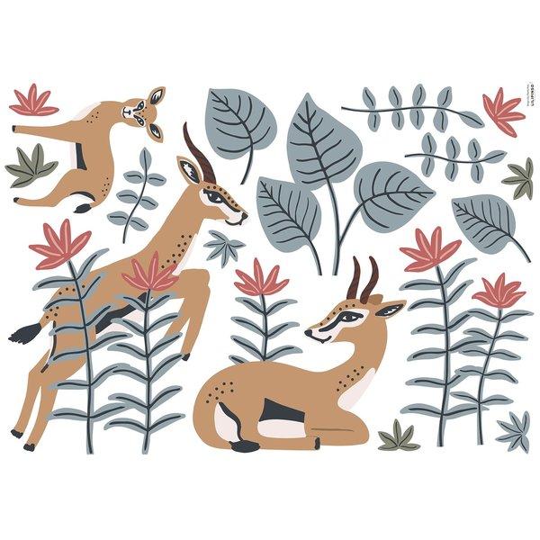 Lilipinso Lilipinso muursticker kinderkamer gazellen