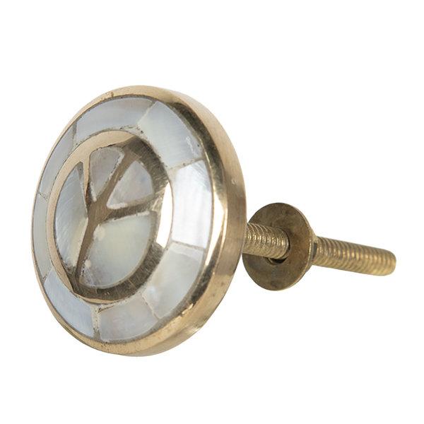 Clayre & Eef Clayre & Eef deurknopje peace goud parelmoer