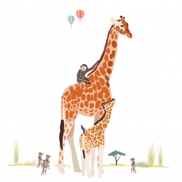 Mimi'lou Mimilou muursticker safari XL