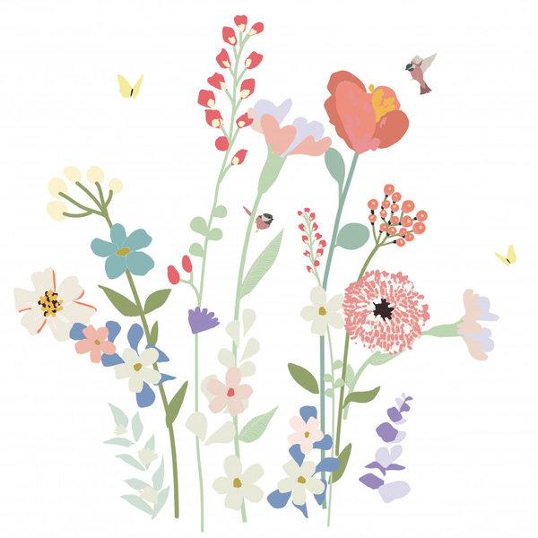 Mimi'lou Mimilou muursticker bloemen Fleurs des Champs XL