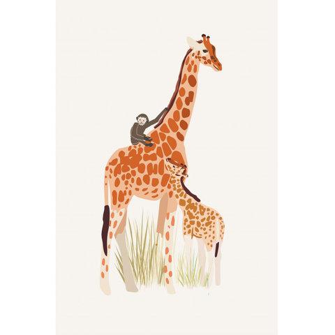Mimilou poster kinderkamer  giraffe