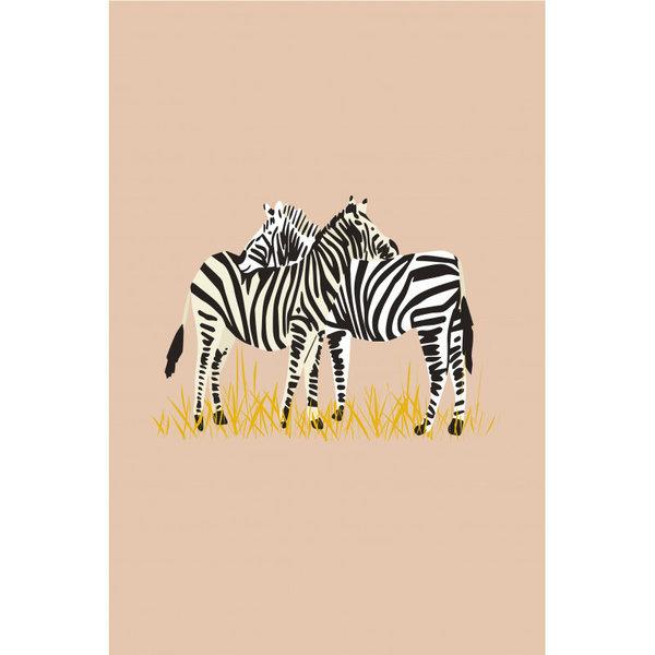 Mimi'lou Mimilou kinderposter zebra