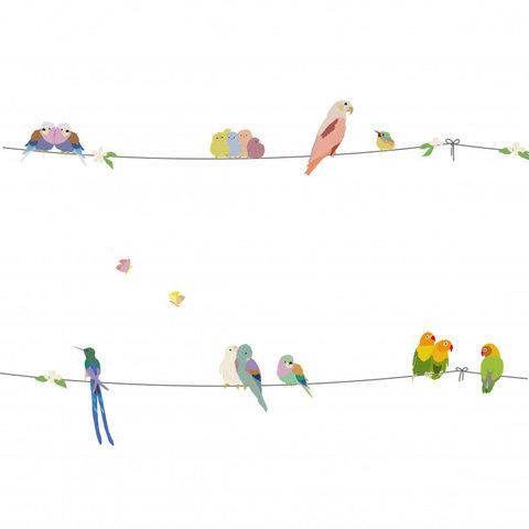 Mimilou muursticker vogels With the Birds