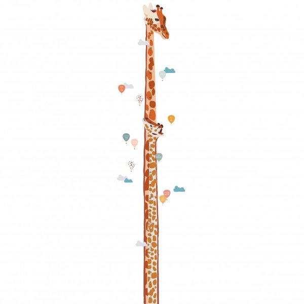 Mimi'lou Mimilou muursticker kinderkamer meetlat giraffe