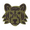 Ferm Living  vloerkleed tijgerkop groen