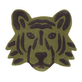 Ferm Living Kids Ferm Living vloerkleedje tijgerhoofd groen