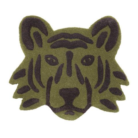 Ferm Living vloerkleedje tijgerhoofd groen