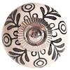 La Finesse kastknopje creme met zwart bloemen patroon