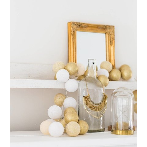 Cotton ball lights lichtslinger A Touch of Gold