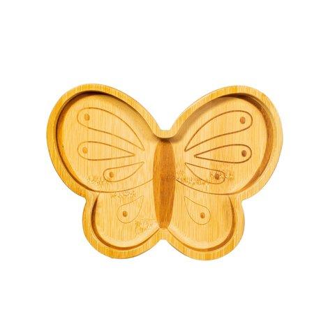 Sass en Belle kinderbord bamboe vlinder