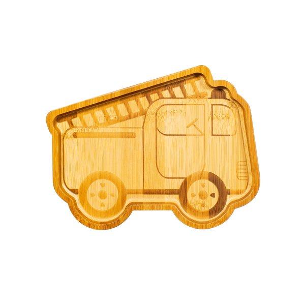 Sass & Belle Sass & Belle kinderbord bamboebrandweer auto