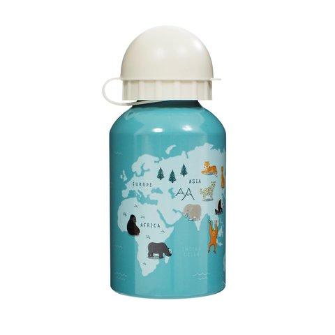 Sass & Belle waterfles dieren blauw