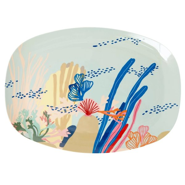 rice Denmark Rice melamine bord ovaal Coral Reef print