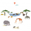 Mimilou muursticker kinderkamer safari