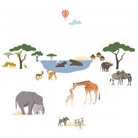 Mimi'lou Mimilou muursticker safari