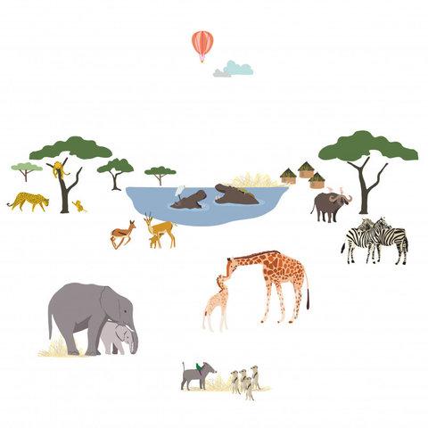 Mimilou muursticker safari